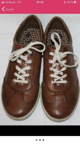 Ecco damen Echt Leder Halbschuhe Schuhe braun 42
