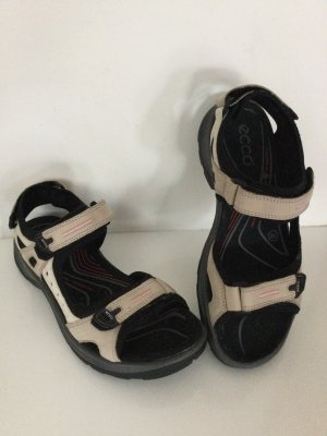 Ecco Sandalias para uso en exteriores blanco puro-negro