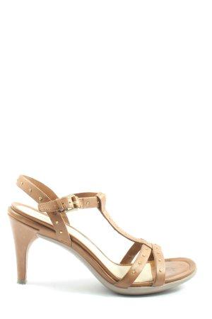 Ecco High Heel Sandaletten braun Casual-Look