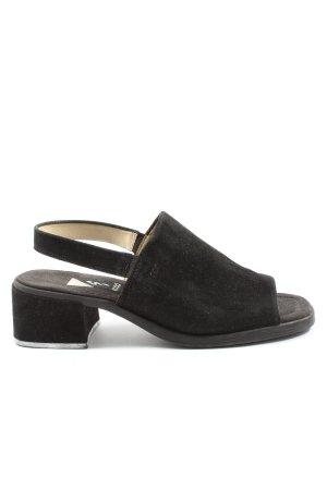 Ecco Hoge hakken sandalen zwart elegant