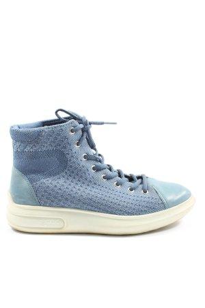 Ecco High Top Sneaker blue casual look
