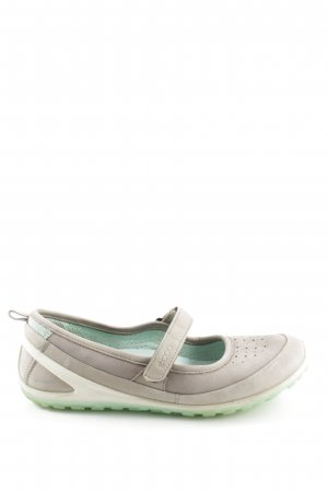 Ecco Komfort-Sandalen hellgrau-grün Casual-Look