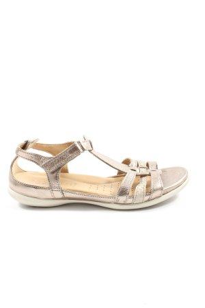 Ecco Komfort-Sandalen goldfarben Casual-Look