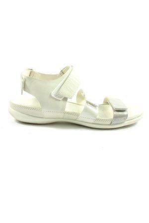 Ecco Komfort-Sandalen wollweiß-silberfarben Casual-Look