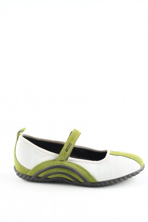 Ecco Mary Jane Ballerinas green-white extravagant style