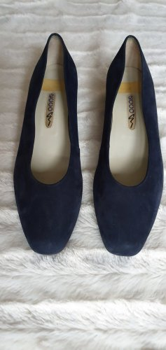 Ecco Mary Jane pumps donkerblauw Suede