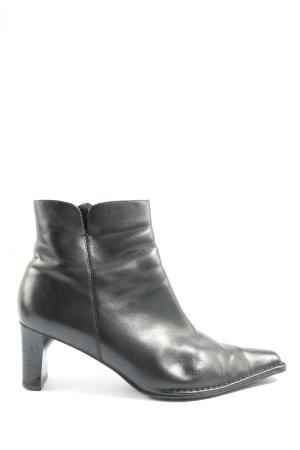 Ecco Reißverschluss-Stiefeletten schwarz Business-Look
