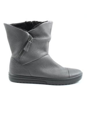 Ecco Zipper Booties light grey casual look