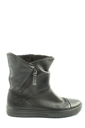 Ecco Reißverschluss-Stiefeletten schwarz Casual-Look
