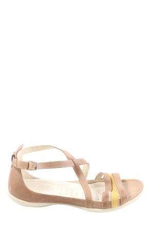 Ecco Riemchen-Sandaletten braun-blassgelb Casual-Look