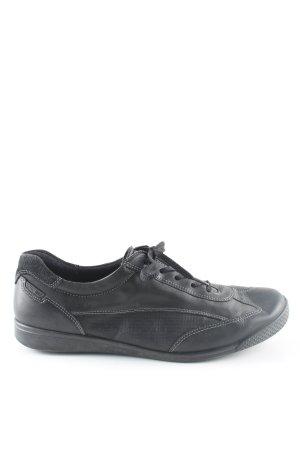 Ecco Schnürschuhe schwarz sportlicher Stil