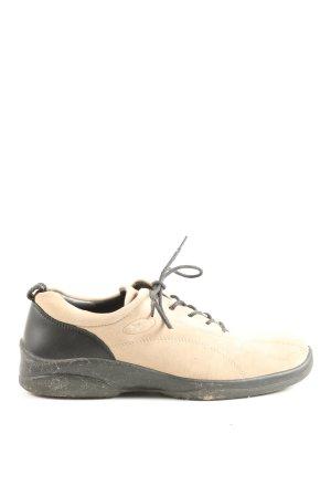 Ecco Schnürschuhe creme-schwarz sportlicher Stil