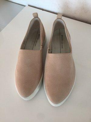 Ecco Zapatos formales sin cordones nude-blanco