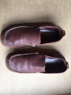 Ecco Moccasins brown leather