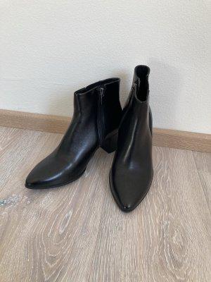 Ecco Stiefelette Boots schwarz Leder Gr. 37