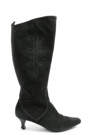 Ecco Wide Calf Boots black casual look