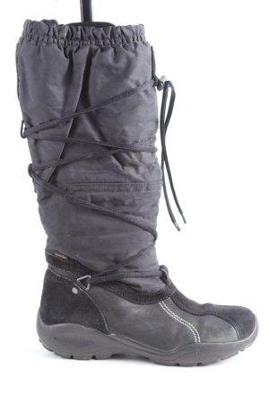 Ecco Botas de invierno negro-gris claro look casual