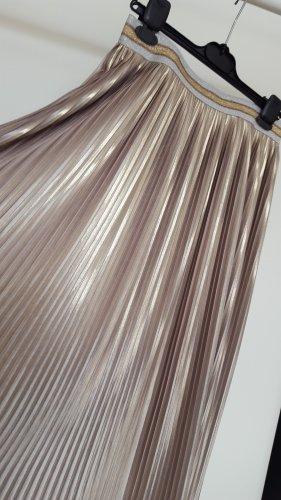Echo Plisowana spódnica złoto-srebrny