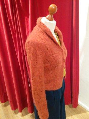 Chaqueta de lana naranja oscuro lana de alpaca