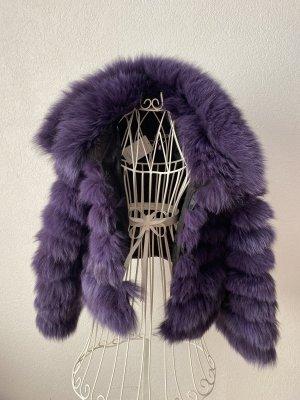 echt blaufuchs pelzjacke, purple quer verarbeitet fox für S/M