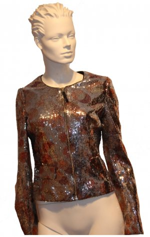 echt cooles Sequinjacket (Paillettenjacke)