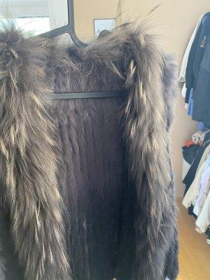 Fur vest grey-light brown
