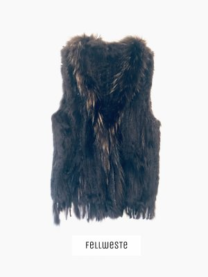 Breuninger Fur vest multicolored