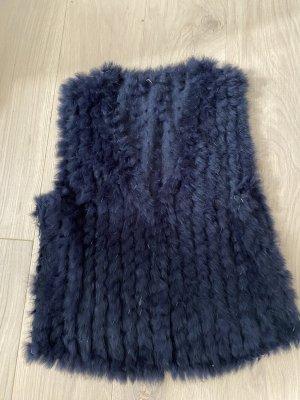 Soyaconcept Bontgilet zwart-donkerblauw