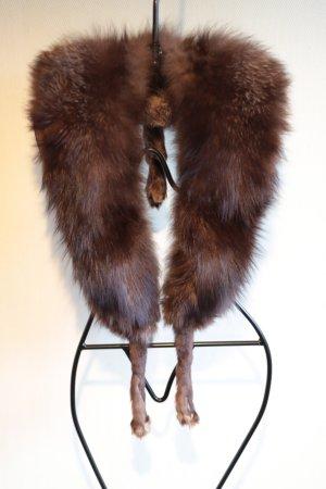 Écharpe à capuche brun foncé fourrure
