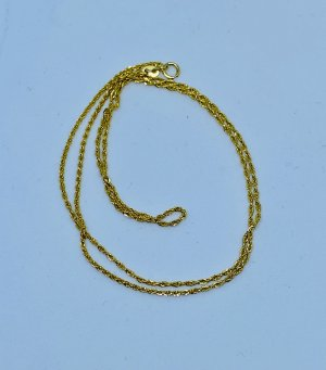 Echt Gold  18k Kordel Kette  750 Gold  Kette Halskette