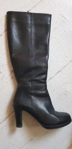 Echt-Leder-Absatz Stiefel 38