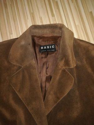 Leder Walter Leren blazer bruin