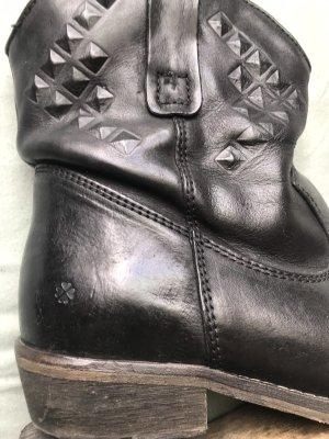Echt Leder Boots Nieten bikern Boots