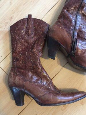 River Island Boots western brun cuir