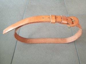 Echt Leder Gürtel, Farbe: cognac, Gr. 85cm