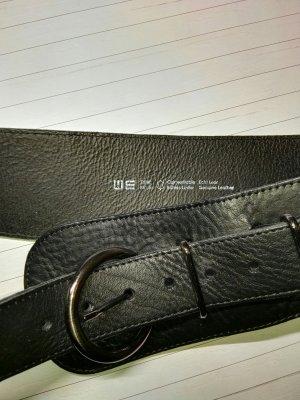 Echt Leder, Gürtel von WE, Schwarz, 85 cm