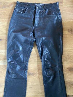 Dakota Pantalon en cuir noir