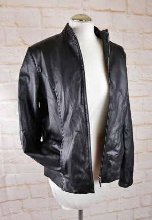 Brookshire Leather Jacket black-silver-colored leather