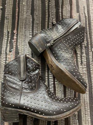Echt Leder Nieten Boots Stiefel