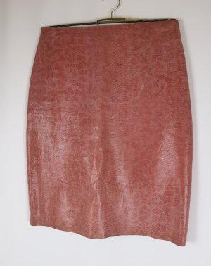 Hennes Collection by H&M Falda de cuero rosa empolvado-rosa Cuero