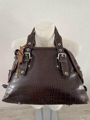 Echt Leder Shopperbag Henkeltasche braun