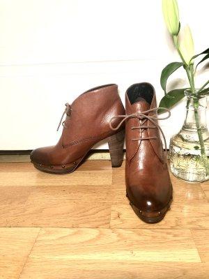 Kennel und Schmenger Bottines à plateforme cognac-brun cuir