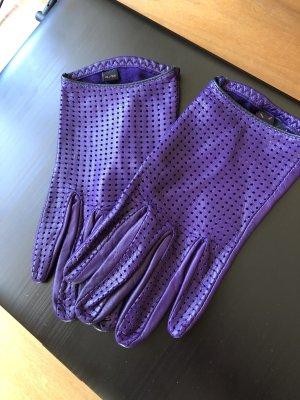 Cinque Rękawiczki skórzane ciemny fiolet