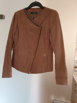 Liu jo Leather Jacket beige-camel