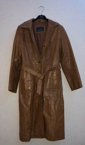 Aviatrix Leather Coat bronze-colored