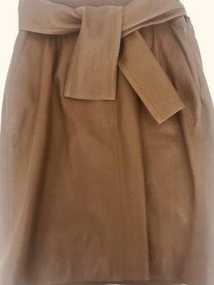 Chloé Jupe en cuir brun