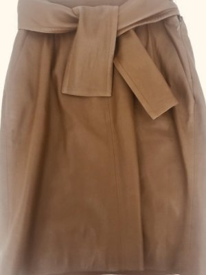 Chloé Leather Skirt brown