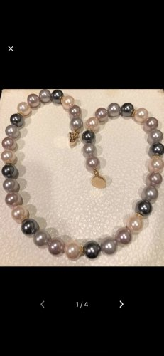 Pearl Necklace gold-colored-silver-colored