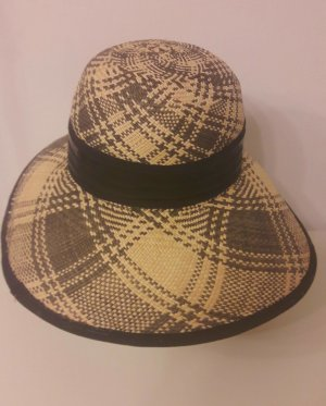 Keine Marke Straw Hat black-cream mixture fibre