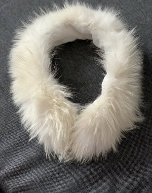 Sciarpa con cappuccio bianco sporco